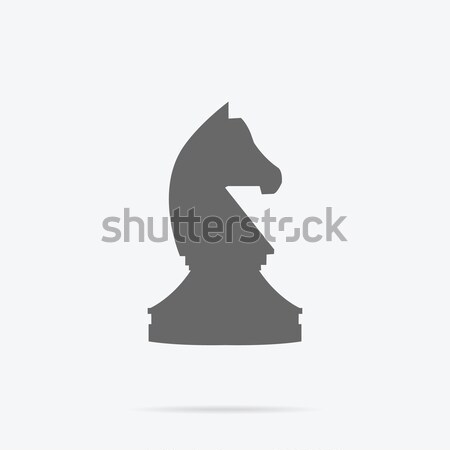 Chess Knight Strategy Monochrome Icon Design Stock photo © robuart