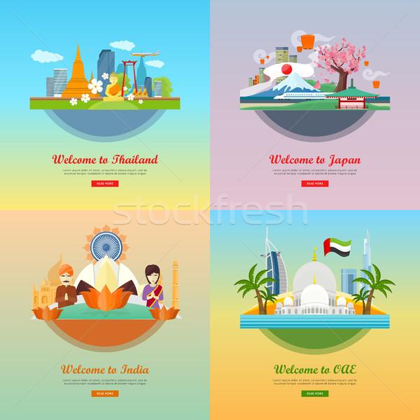 Welcome to Japan, Thailand, India, UAE Stock photo © robuart