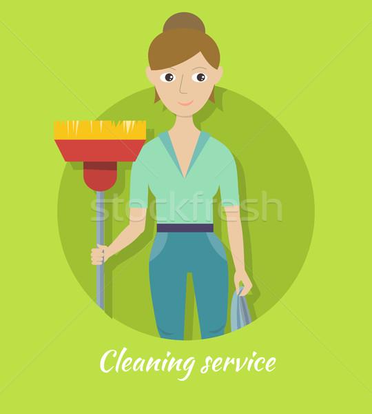 Membro pulizia servizio ginestra femminile personale Foto d'archivio © robuart