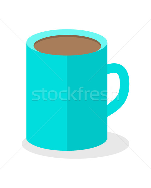 Blue Coffee Cup Isolated. Hot Strong Beverage. Stock photo © robuart