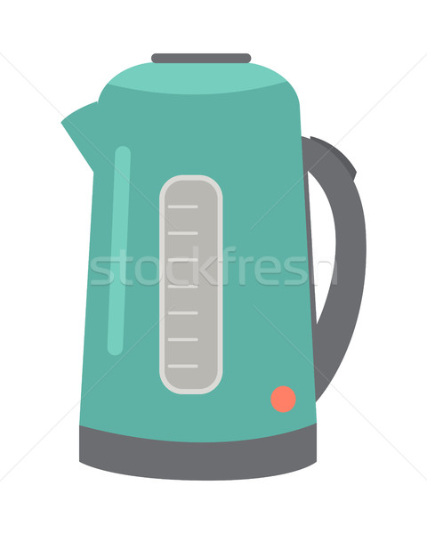 Teapot or Electric Kettle Isolated on White Vector Stock photo © robuart