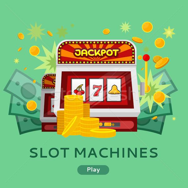 Kasyno hazardu stronie szablon chipy Zdjęcia stock © robuart