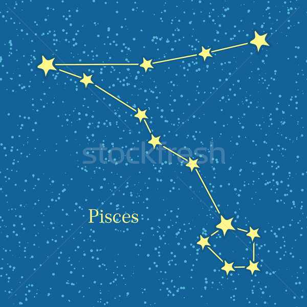 Pisces Zodiac Symbol on Background of Cosmic Sky Stock photo © robuart