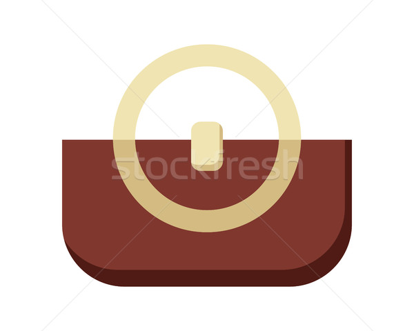 коричневый дамы сумочка женщины элегантный сумку Сток-фото © robuart
