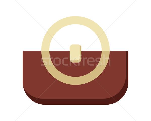 Brun dames sac à main Homme élégante sac Photo stock © robuart