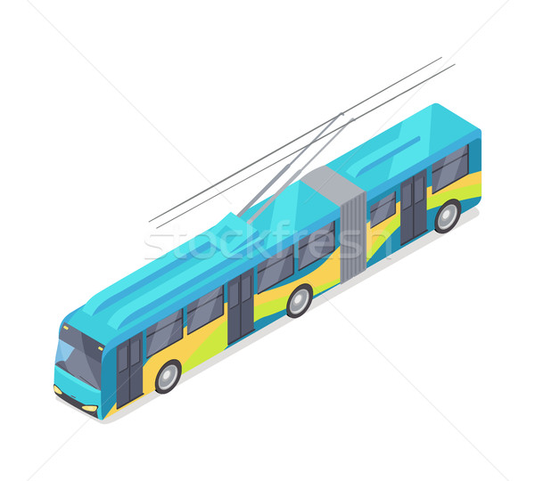 Trolleybus Vector Icon in Isometric Projection Stock photo © robuart