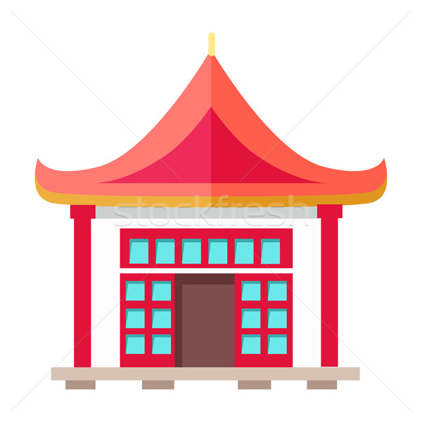 Oriental Type of Building with Triangular Roof Stock photo © robuart