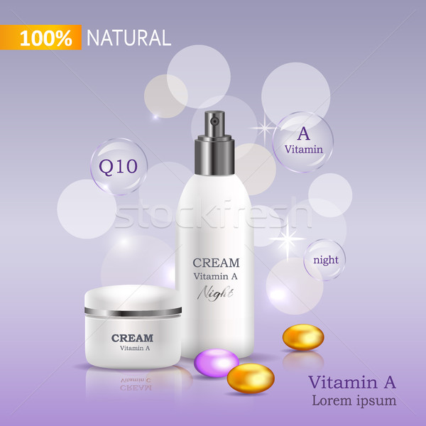 100 naturalismo creme vitamina c banco spray Foto stock © robuart