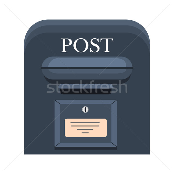 Wall Mounted Metal Mailbox Isolated Flat Vector  Stock photo © robuart