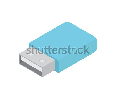 Compact Flash Card with Blue Corpus Illustration Stock photo © robuart