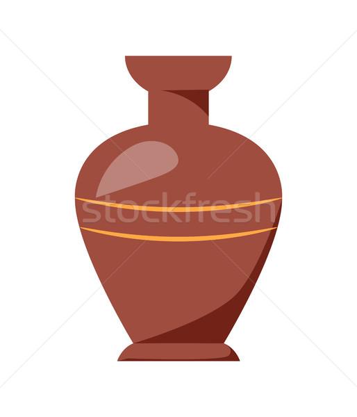 глина ваза изолированный белый антикварная Сток-фото © robuart