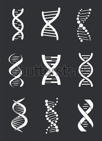 Stock photo: Dna Different Icons Set on Vector Illustration