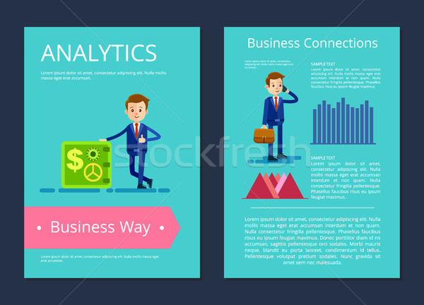 Analytics Business Way on Vector Illustration Stock photo © robuart