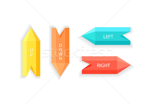 Arrows Showing Up Down Right Left Direction Vector Stock photo © robuart