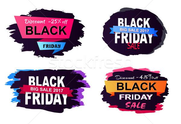 Zdjęcia stock: Zniżka · 25 · duży · sprzedaży · black · friday