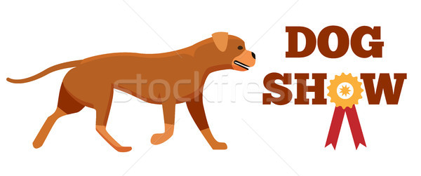Dog Show Award with Ribbon Canine Animal Design Stock photo © robuart