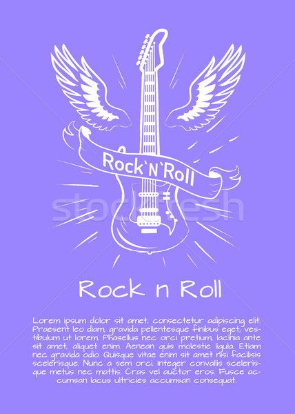 Rock n Roll Music Poster Vector Illustration Stock photo © robuart