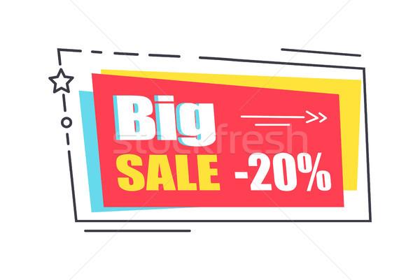 Grande venda promo adesivo praça forma Foto stock © robuart