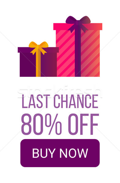 Last Chance 80 Off Buy Now Beautiful Gift Boxes Stock photo © robuart
