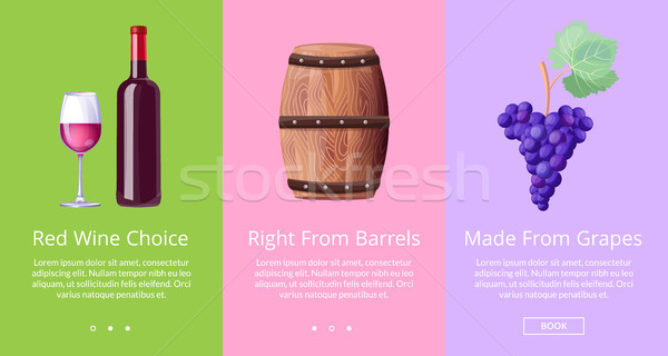 Stock photo: Red Wine Choice Right from Barrels Made from Grape