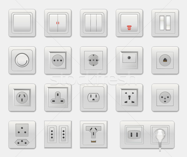 Set of Different Switches Vector Illustration Stock photo © robuart
