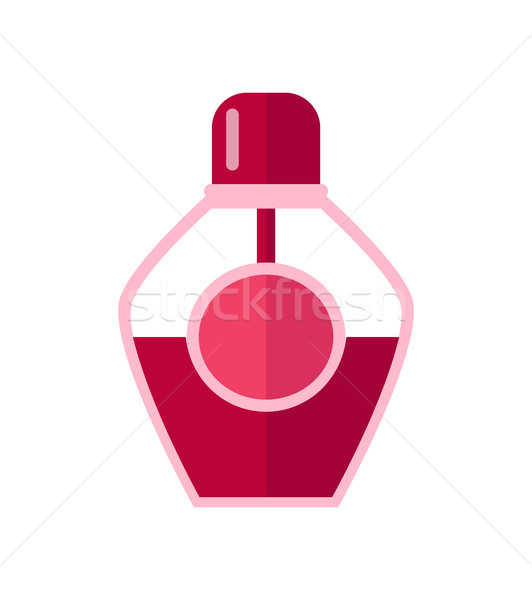 Color Template of Glass Vial Vector Illustration Stock photo © robuart