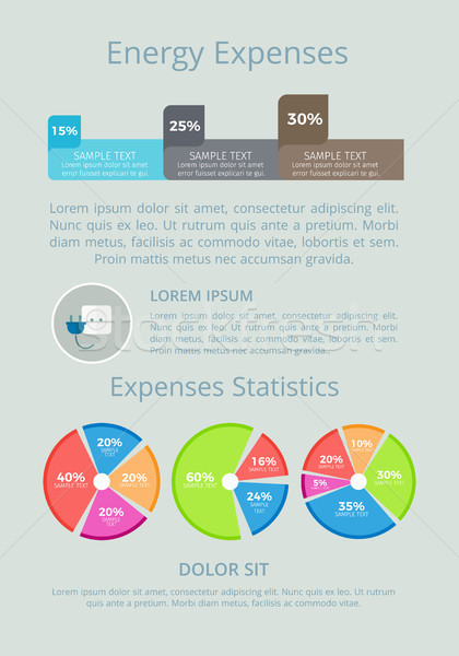 Energy Expenses Statistics Vector Illustration Stock photo © robuart