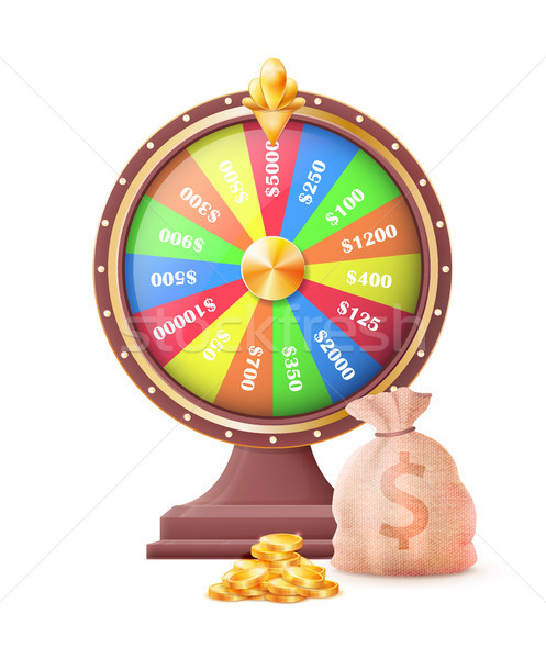 Koła automatyczny hazardu maszyny worek Zdjęcia stock © robuart