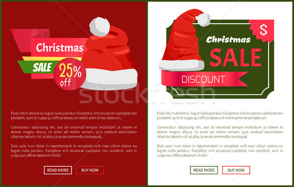 Venda papai noel promo natal Foto stock © robuart