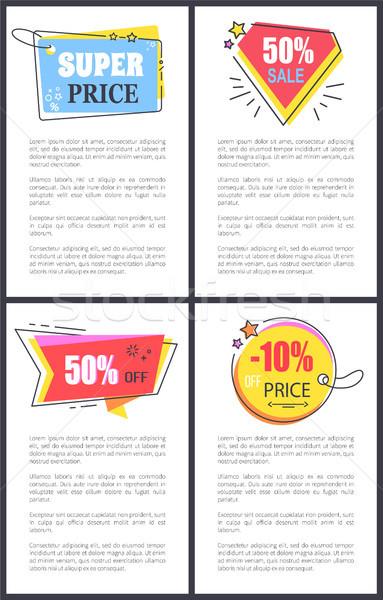 Super Price 50 Sale Off on Vector Illustration Stock photo © robuart