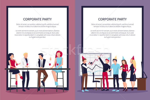 Corporate Party Web Page on Vector Illustration Stock photo © robuart