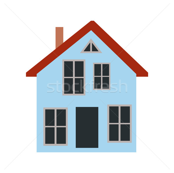 House with Chimney and Door Vector Illustration Stock photo © robuart