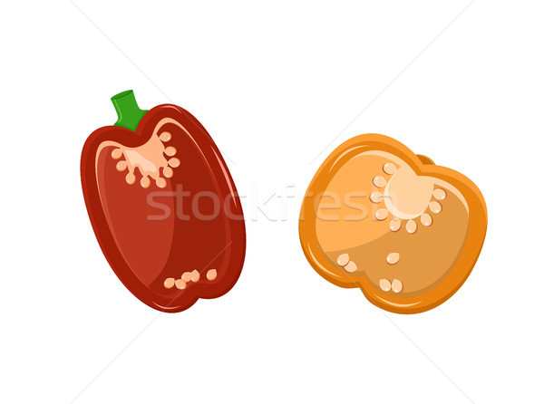 Paprika Collection Pepper Vector Illustration Stock photo © robuart