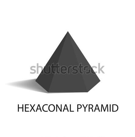 Sfera prisma piazza piramide set nero Foto d'archivio © robuart