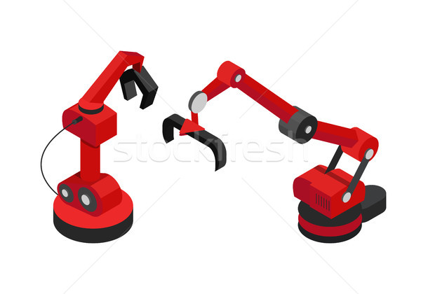 Robots ingesteld abstract machines hand kleur Stockfoto © robuart