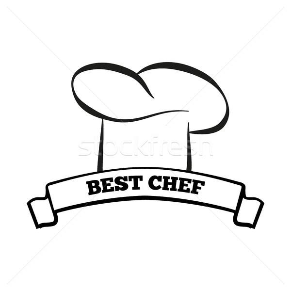 Best chef icon kok hoed keuken Stockfoto © robuart