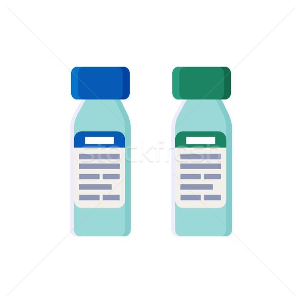 Plastic flessen strak ingesteld recept Stockfoto © robuart