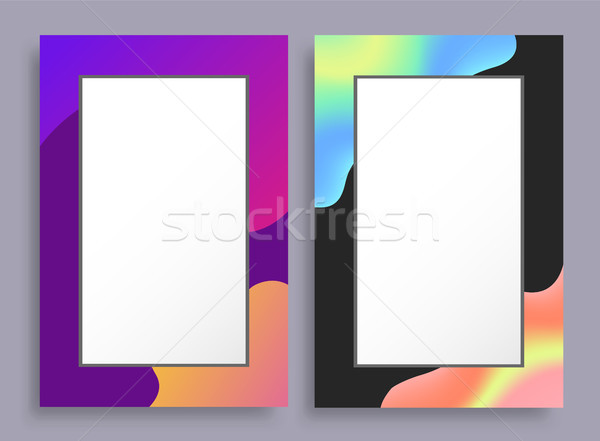 Colorful Empty Vertical Frames with Bright Stains Stock photo © robuart