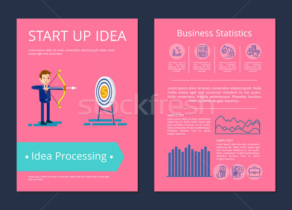 Start Up Idea and Processing Vector Illustration Stock photo © robuart