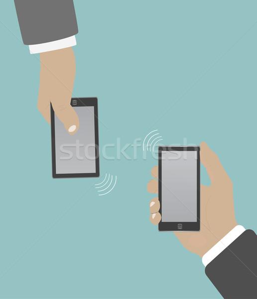 Smartphone in hand wifi Stock photo © robuart