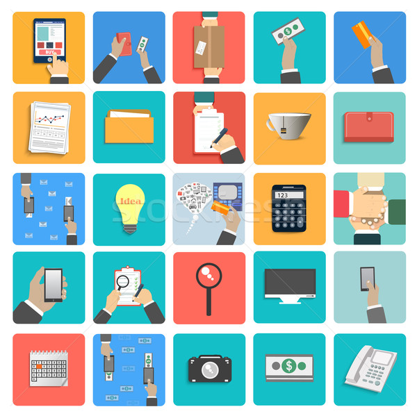 Stock photo: Business work elements