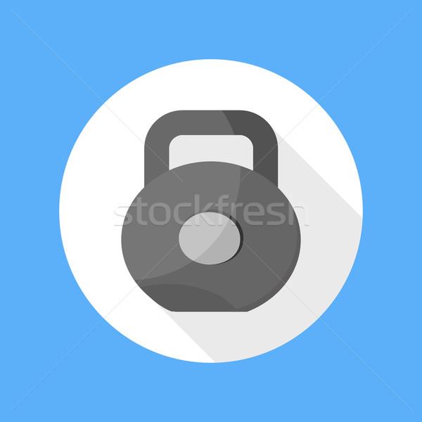 Dumbbell icon Stock photo © robuart
