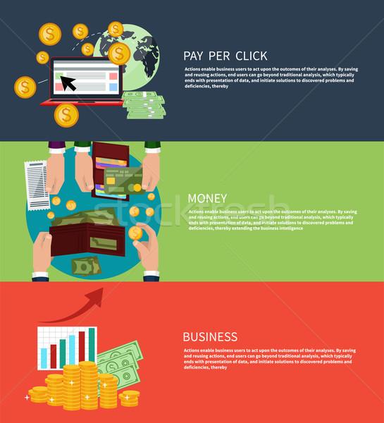 üzlet pénz illetmény által kattintás terv Stock fotó © robuart