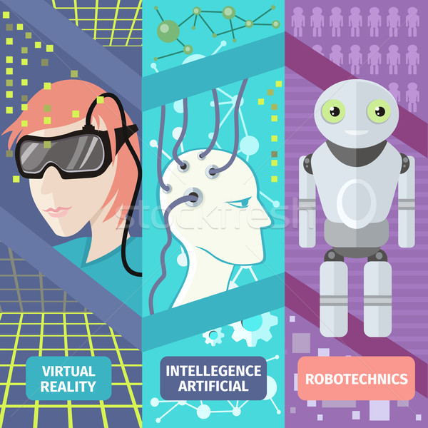Artificial intelligence, reality virtual and robotechnics Stock photo © robuart