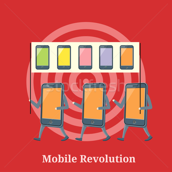 Mobile Revolution Concept Stock photo © robuart