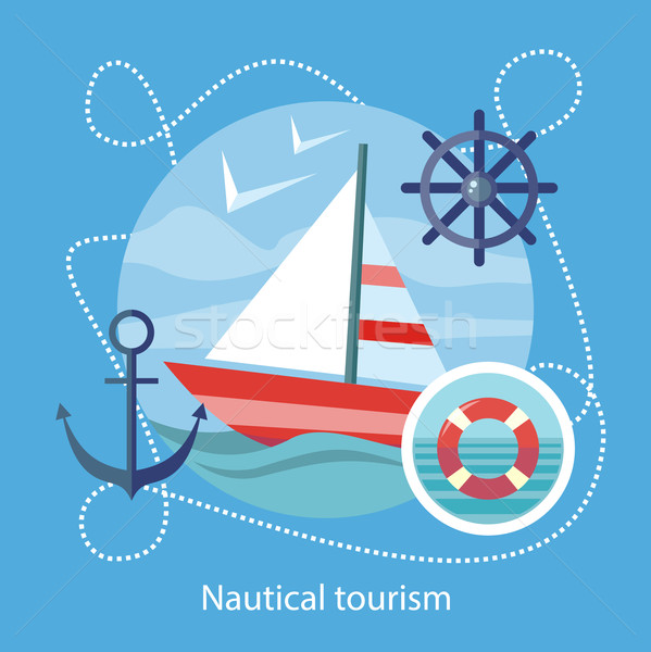 Nautical Tourism. Sailing Vessel in Blue Water Stock photo © robuart