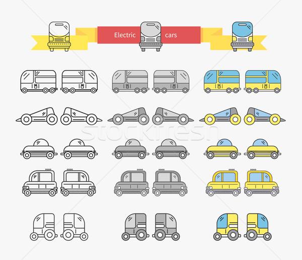 Elektrische auto bus ontwerp lineair vervoer elektrische Stockfoto © robuart