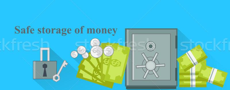 Safe Storage of Money Design Flat Stock photo © robuart