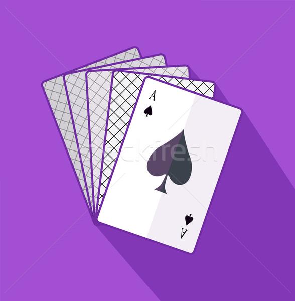 Aas kaart ontwerp speelkaarten poker spel Stockfoto © robuart