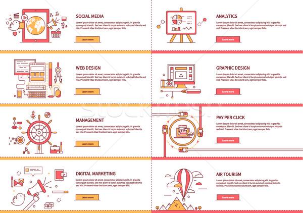 Gestione digitale marketing analitica avvio Foto d'archivio © robuart